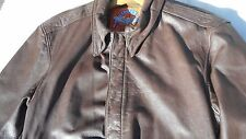 USAF A-2 Leather Flight Jacket MFG Cooper Size 38R Rare Size Very GOOD Condition