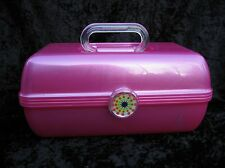 Caboodles On The Go Girl Pink Makeup Cosmetic Train Travel Case Organizer Mirror