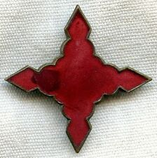 Spanish-American War Era US Army 4th Corps, 1st Division Badge