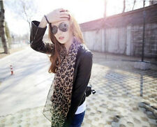 Women Fashion Long Style Wrap Lady Shawl Leopard Chiffon Scarf Scarves Stole New