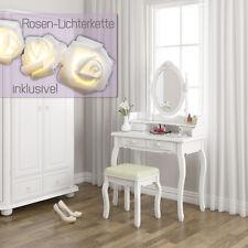 Schminktisch Hocker Kosmetiktisch Frisierkommode Frisiertisch Spiegel Lady Rose