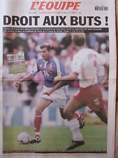L'Equipe du 11/6/2002 - Coupe du monde de football : Avant France-Danemark