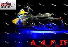 4pc MULTI COLOR LED SKI-DOO SNOWMOBILE UNDER GLOW LIGHT KIT w REMOTE CONTROL