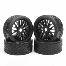 22046+26010 Flat Off Road Wheel &Tire  For 1/8 Scale RC Car Buggy 4PC