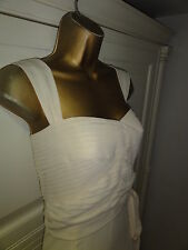 Karen Millen cream bow dress uk 14 eu 42 wedding cocktail races