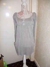 TFNC cute grey mini dress tunic with puff sleeves 8 10 lolita spring