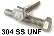 "Qty 20 Hex Set Screw 1/2"" UNF x 1-1/2"" Stainless Steel 304 SS A2 70 Bolt"