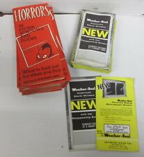 Vintage Weather Seal Storm Windows and Doors Brochure Packets Lot 040414ame