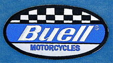 """BUELL  MOTORCYCLES EMBROIDERED  IRON ON PATCH   4 3/8"""" WIDE x 2 1/4"""" HIGH"""