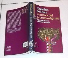 Christian De Duve GENETICA DEL PECCATO ORIGINALE - Raffaello Cortina 2010