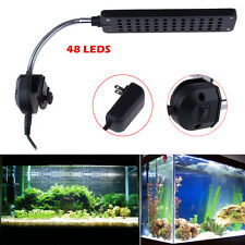 48 LEDs LED Aquarium Light Flexible Blue White Fish Tank Lighting With UK Plug