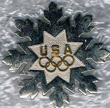 2002 SALT LAKE CITY SNOWFLAKE USA OLYMPIC TEAM NOC PIN