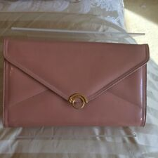 Vintage Patent Leather Clutch/Small Shoulder Bag by Bally in Peach, VGC
