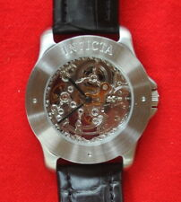 New Old Stock Invicta Men's Skeleton Mechanical Watch 5 ATM 17 Jewels Blk Strap
