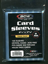 100 BCW Trading Card THICK Card Penny Sleeves (1 Pack)