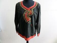 "WOMENS BARES TUNIC TOPS MULTI/BLACK SIZE 42"" CHEST GOOD/WORN SKU NO LB339"