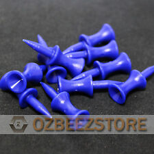 35 mm Blue Plastic Golf Step Tees castle tees  pack of 100