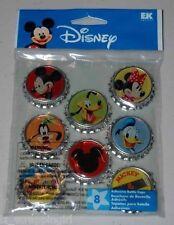 ~MICKEY MOUSE BOTTLE CAPS~ Adhesive Dimensional Stickers DISNEY WORLD EK SUCCESS