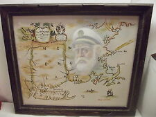 BILLY WILDER OIL PAINTING SEA CAPTAIN NAUTICAL MAP WALL ART
