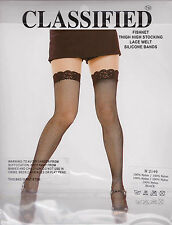 CLASSIFIED -Sexy Fishnet Lace Top Stockings - H1249 - Black - One Size  BNIP