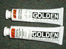 Golden Acrylics 2-ounce 2 tubes Paint Quinacridone Nickel Azo Gold