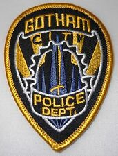 "Batman Gotham Police Shield 2 1/2"" Wide Embroidered Patch"