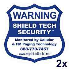 2 FRONT ADHESIVE WINDOW DECALS -WARNING STICKER ALARM SECURITY SYSTEM PK A