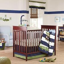 NoJo Alligator Blues Collection 4-Piece Crib Bedding Set, Hippo, Turtle, Birds