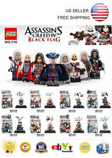 Lego Compatible Custom Assassin's Creed Black Flag Mini figures Set of 8 Ezio