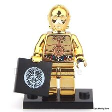 Custom Chrome C-3PO Droid Star Wars Minifigure fits with Lego UK Seller PG637