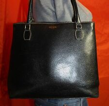 KATE SPADE Made In ITALY Black Med Leather Shoulder Hobo Tote Satchel Purse Bag