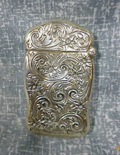 Antique Art Noveau Sterling Silver Match Safe Vesta  B