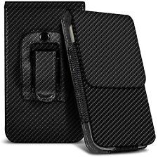 Vertical xl fibre de carbone étui de ceinture holster case pour Samsung Galaxy S7 Edge