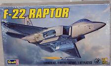 Revell F-22 Raptor 1/72 scale plastic fighter plane Model Kit #5984
