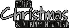 Marianne D CRAFTABLES Die Cut Emboss Stencil MERRY CHRISTMAS CR1327 *