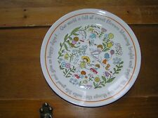 "Vintage Lenox GENTLE FRIENDS Kids Garden Flowers Cat Plate with ""Our world is"