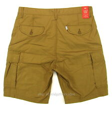 Levis Carrier Cargo Shorts Mens New SIZE 34 DARK KHAKI Loose Fit Levi's NWT