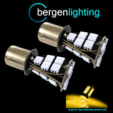 382 1156 BA15s 245 XENON AMBER 21 SMD LED FRONT INDICATOR LIGHT BULBS FI201702