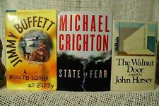 lot 3 old  books The Walnut Door Jimmy Buffet a Pirate Looks at Fifty book