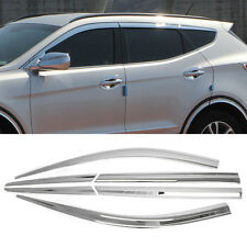 Chrome Window Sun Vent Visor Rain Guards 6P C503 For HYUNDAI 2013-15 Santa Fe Dm