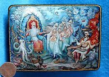 Russian trinket GICLEE style Lacquer box Fairy Tale SADKO Tzar of the Sea PALEKH