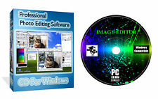 Foto editing di immagini Editor ILLUSTRATORE PITTORE FOTOGRAFIA CD del software per PC