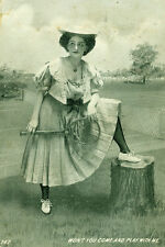 """Tennis. """"Won't you Come and Play With Me"""" 1909"""