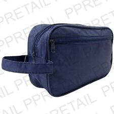 Large MENS TRAVEL WASH TOILETRY BAG + WRIST STRAP Holiday Cosmetics Case Gift