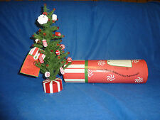 Dept. 56  Sweets Christmas Tree-Records Holiday Message-in mailing tube