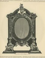 ANTIQUE VENETIAN ARABESQUES REPOUSSE MIRROR CHERBUS ELKINGTON OF LONDON PRINT