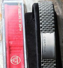 Certina beads NSA vintage watch band stainless steel Swiss 1960/70s NSA bracelet