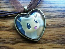 Pokemon Card Trading Eevee Eeveelution Charm Pendant Glass Necklace Cosplay cute