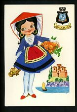 Embroidered clothing postcard Artist Alfredo, Italy , Woman dress Calabria