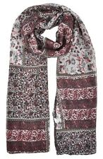 Vintage Floral Patchwork Floral Wine Red Pashmina Scarf Wrap Shawl Xmas Gifts